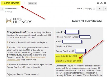 HHonors-Reward