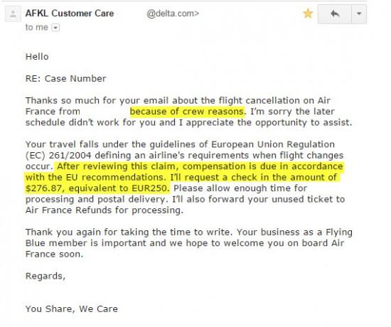 Air France Claim