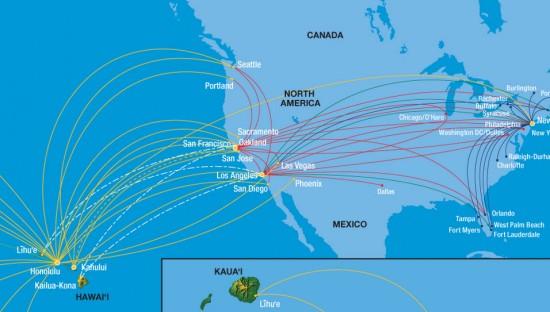 Hawaiian-route-map