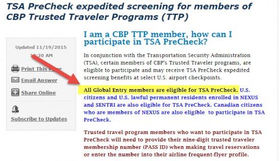 TSA-pre